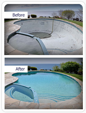 img before after Pool Renovation